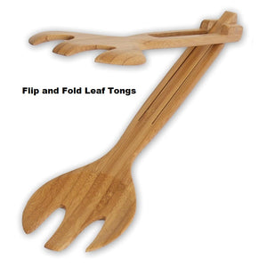 Island Bamboo Wooden Tong Flip and Fold