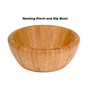 Island Bamboo Nesting Pinch and Dip Bowl - Large