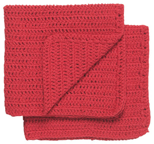 "Now Designs Dish Cloths, ""Homespun Red"", Set of 2"