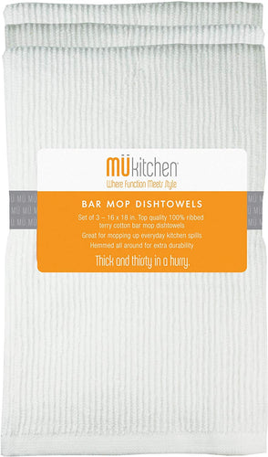 MUkitchen Bar Mop Dish Towel-Set of 3