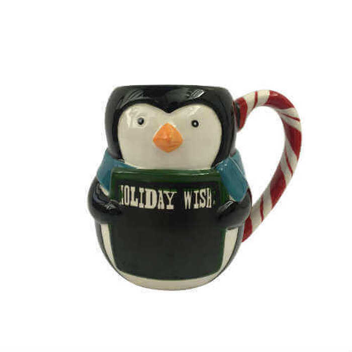 Boston Warehouse Mug-Penguin Chalkboard