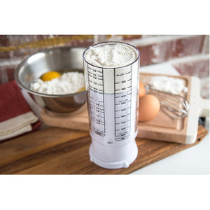 KitchenArt 2 Cup Adjust-A-Cup, Plastic, White