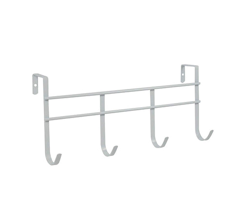 Spectrum Over the Door 4-Hook Rack, White