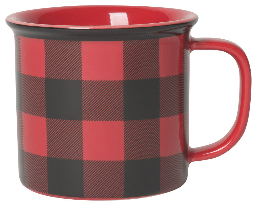 Now Designs Mug, Buffalo Check Heritage, 14 oz