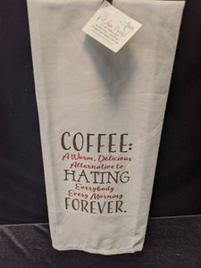 "Artistic Kitchen Towel: ""Coffee"""