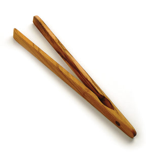 RSVP Olive Wood Toast Tongs