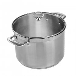 Chantal Stock Pot w/Glass Lid, 8 QT, Induction 21 Steel Stainless
