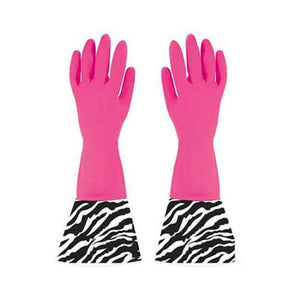 Boston Warehouse Sparkling Goddess Glamour Gloves- Zebra