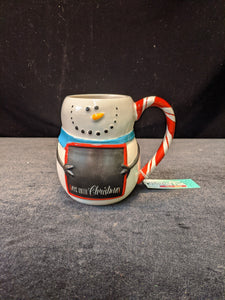 Boston Warehouse Mug- Snowman Chalkboard