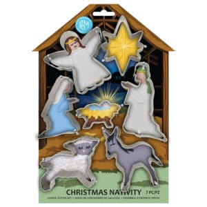 R&M International, Christmas Nativity Cookie Cutters, 7 piece set