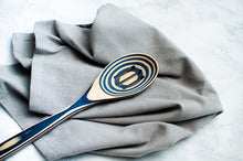 Island Bamboo Pakka Slotted Spoon - Blue