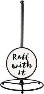 "Boston Warehouse Paper Towel Holder-""Roll With It"""