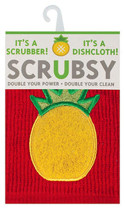 MUkitchen Scrubsy Dish Cloth-Pineapple