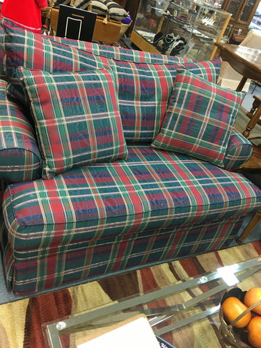 Ethan Allen Plaid Loveseat