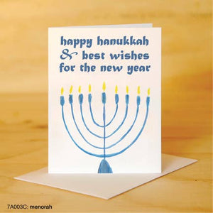 Printed Canvas Greeting Card- Happy Hanukkah
