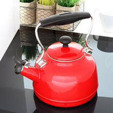 Chantal Vintage Enamel on Steel Tea Kettle-Red