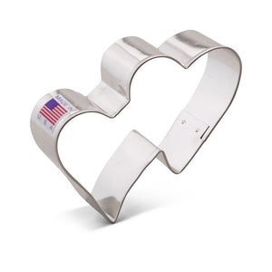 Ann Clark Stainless Steel Cookie Cutter - Double Heart