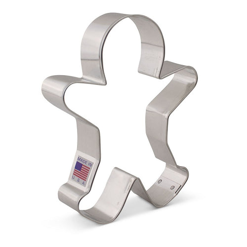 Ann Clark Stainless Steel Cookie Cutter - Gingerbread Boy 4 x 4