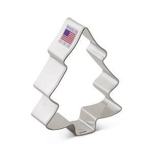 Ann Clark Stainless Steel Cookie Cutter - Snow Covered Tree