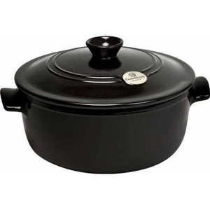 Emile Henry Dutch Oven/Stew Pot 4.2 Qt-Charcoal
