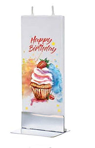 Flatyz Candle Happy Birthday Cupcake