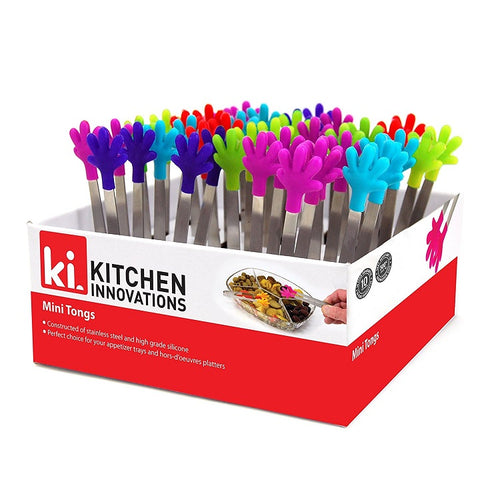 Kitchen Innovations Mini Tongs-Assorted Colors