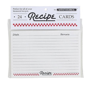 Kitchen Supply Recipe Cards