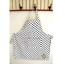 Lemon Poppy Black Polka Dot Apron