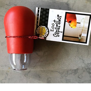 Lemon Poppy Egg Separator-Red