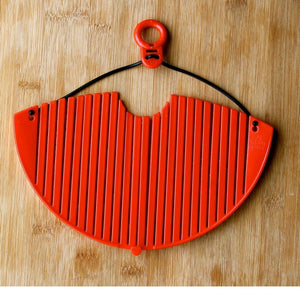 Lemon Poppy Pan Strainer-Red