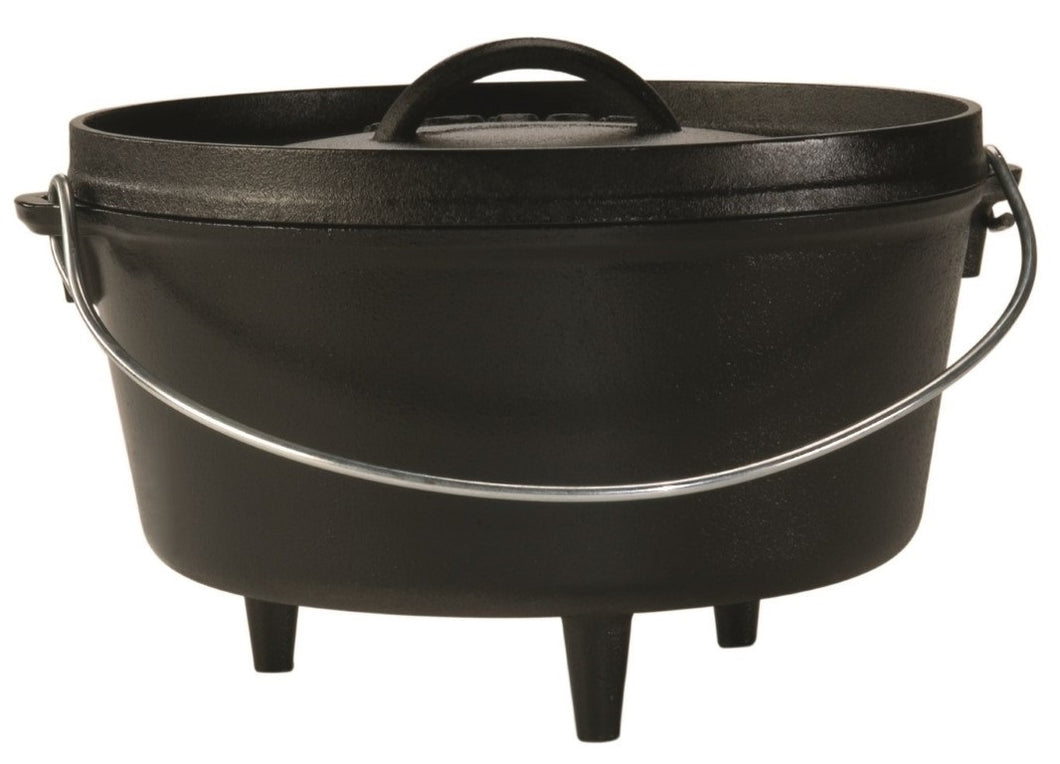 Lodge Cast Iron Camp Dutch Oven Deep 5 Qt