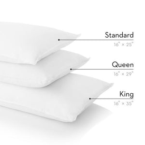 Malouf Zoned Gelled Microfiber Pillow - Queen