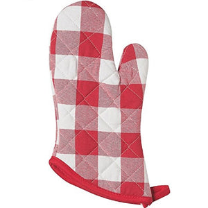 Now Design Oven Mitt Superior Picnic Check Red
