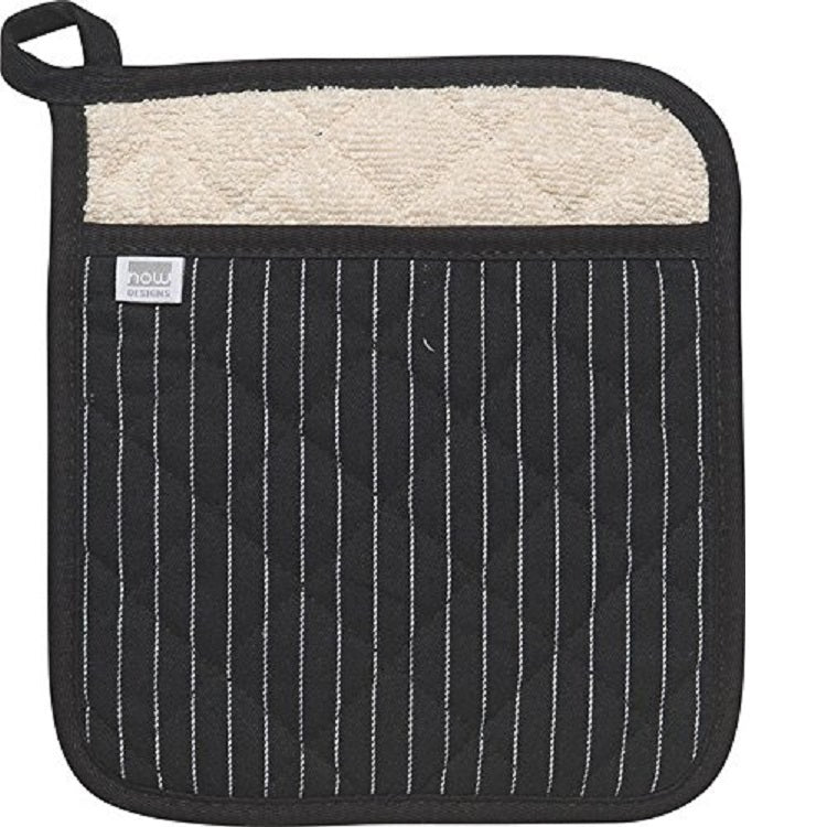 Now Design Pot Holders Superior Pinstripe Black