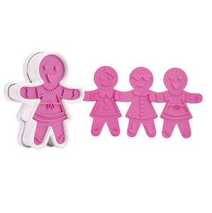Tovolo Ginger Bread Girl Cookie Cutter, 6 Unique Designs
