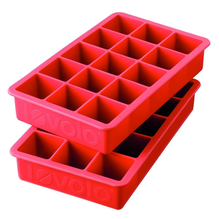 Tovolo Perfect Cube Ice Tray-Candy Apple Red