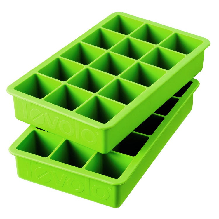 Tovolo Perfect Cube Ice Tray-Spring Green