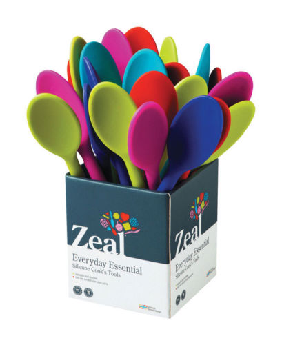 Zeal Silicone Cook's Spoon-Assorted Colors
