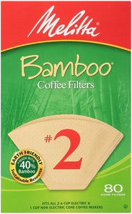 Melitta #4 Cone Filter Paper Bamboo - 80 Count
