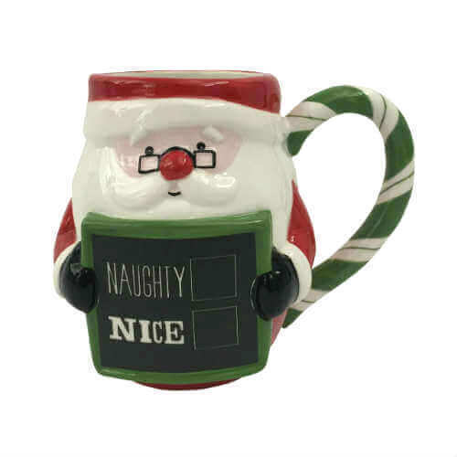 Boston Warehouse Mug- Santa Chalkboard
