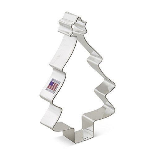 Ann Clark Stainless Steel Cookie Cutter - Christmas Tree w/ Star 4 x 5