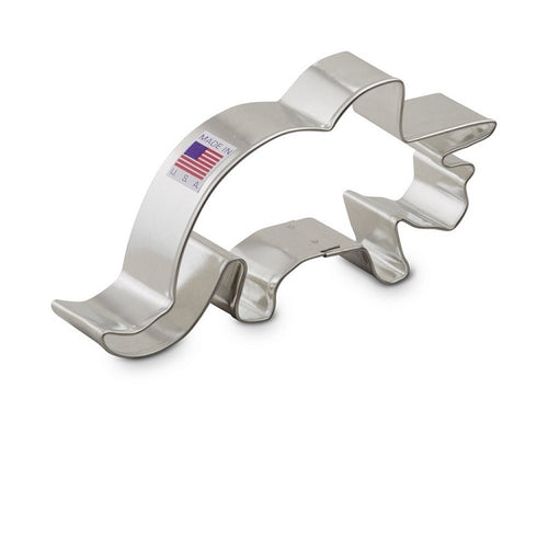 Ann Clark Stainless Steel Cookie Cutter - Triceratops 5 x 3