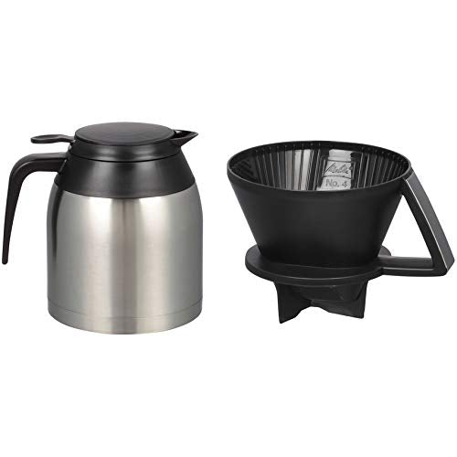 Melitta Thermal Pour-Over Coffeemaker and Stainless Carafe Set