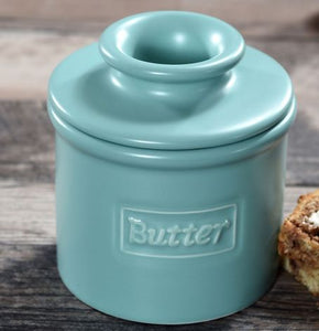 L Tremain The Original Butter Bell Crock-Matte Aqua