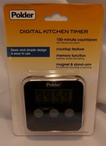 Polder Digital Kitchen Timer-Black
