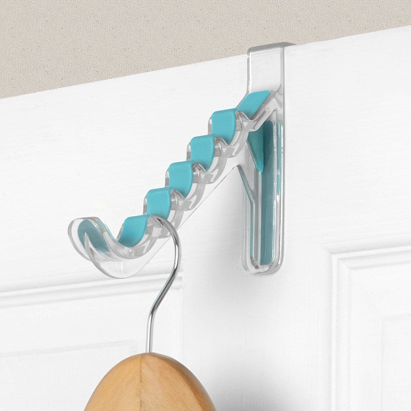 Cora Over the Door Hanger Holder, Sky Blue and Clear