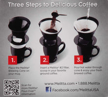 Melitta 1-Cup Pour-Over Coffee Brew Cone