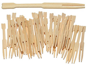 NORPRO Wooden Party Forks-72 per Pack