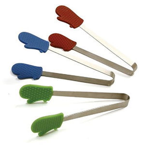 NORPRO Oven Mitt Mini Tongs, Variety of Color