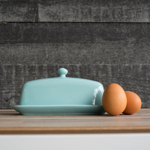 Now Design Stoneware Butter Dish, Eggshell